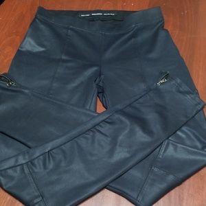 ZARA BLACK FAUX LEATHER LEGGINGS size Small